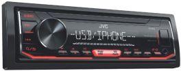 JVC KD-X252 autoradio 1 DIN USB, Aux-in anteriore, illuminazione rossa, senza CD