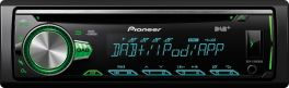 Pioneer DEH-S400DAB autoradio car stereo 1 DIN, DAB, USB anteriore, iPod, Aux-in frontale