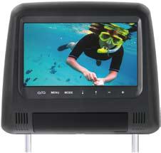 """Phonocar VM150 Poggiatesta monitor LCD 7"""" PAL/NTSC 4:3, Risoluzione 800 x 480"""