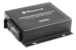 Phonocar VM298 Registratore DVR HD 2 Canali Alimentazione 9-30V