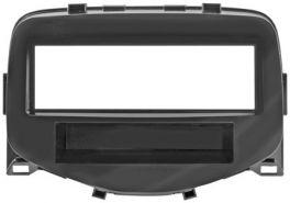 Mascherina 1 DIN per Citroen C1 14- Peugeot 108 14- Toyota Aygo 14- colore nero lucido