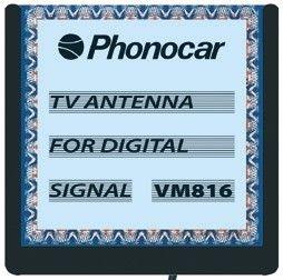 Phonocar VM816 Antenna TV portabollo amplificata per segnale digitale