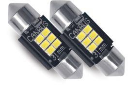 Lampade Led universali luci retromarcia/porta targa Can bus integrato 31mm (COPPIA) Phonocar 07701