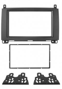 Mascherina 2 Din Mercedes A (W169) 12- B 11- colore nero
