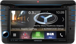 Kenwood DNX518VDABS per VW, Seat, Skoda autoradio 2 DIN con DAB+, GPS, Carplay, Android Auto, Waze Link, Spotify