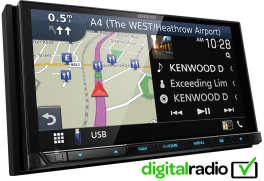 Kenwood DNX9180DABS autoradio 2 DIN con GPS Apple Carplay, Android Auto, Bluetooth e DAB+