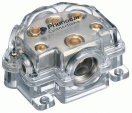 Distributore di corrente Cavo In 50 mm2 Cavo Out 1x35 - 2x15 - 2x25 mm2 Phonocar 04483