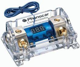 Portafusibile con voltmetro fusibile ANL (maxi lama) Cavo In/Out 50 mm2 Phonocar 04490