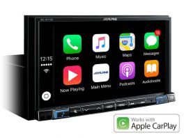 Alpine INE-W710DC Media Station 7'' con Bluetooth, App CarPlay, Android Auto e Navi + Mappe Truck