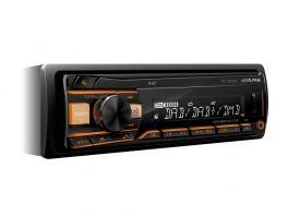 Alpine UTE-202DAB Autoradio 1 Din con USB e Radio DAB+ senza antenna DAB