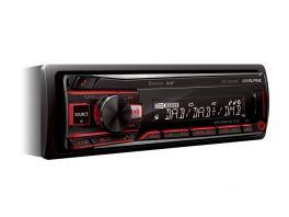 Alpine UTE-204DAB+ANT Autoradio 1 Din con USB, Radio DAB+ e Bluetooth + Antenna KAE-242DA inclusa