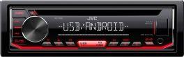 JVC KD-T402 Autoradio 1 DIN USB, AUX, unità CD Android Music Control