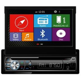 Hardstone DPM9G Sintolettore DVD 1 DIN con GPS, bluetooth, USB, EasyLink per sistemi Android e IOS