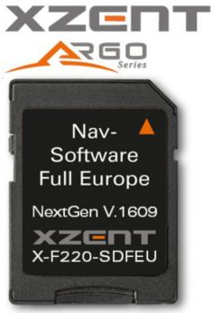 Software di navigazione XZENT per X-F220-SDFEU e modelli successivi