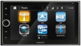 XZENT X-422 autoradio 2-DIN navigatore GPS CON DAB +, BLUETOOTH, USB, HDMI