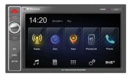 PHONOCAR VM069E Media Station 6.2 pollici con GPS, USB  Smartphone Link + mappa EUROPA NV980