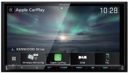 Kenwood DMX8019DABS autoradio 2 DIN con radio DAB, Bluetooth, Spotify, Wireless CarPlay, Android Auto