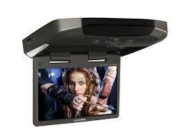"""Alpine TMX-310U Monitor da tetto LCD a colori 10.2"""" con Android  2 porte USB e 1 SD"""