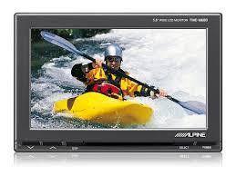 "Alpine TME-M680 Monitor a colori  5,8"" + Kit installazione 2 Aux input + 1 Aux input/output"