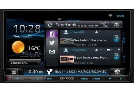 "Kenwood DNN9150DAB Autoradio GPS da 7.0 "" WVGA rete Wi-Fi e lettore DVD, Bluetooth e DAB"