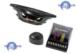 GLADEN SQX 165 SLIM Kit a 2 vie, Midwoofer da 165mm, 2x135/90 Watt, impedenza 3 Ohm