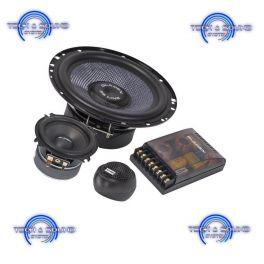 GLADEN ZERO SQX 165.3 Kit a 3 vie, Midwoofer da 165 mm, midrange da 80 mm, 2x 180/120 Watt, impedenza 2 Ohm