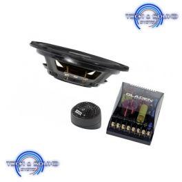 GLADEN SQX 130 SLIM Kit a 2 vie, Midrange da 130mm, 2x 120/80 Watt, impedenza 3 Ohm.