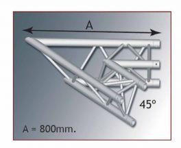 MOBILTRUSS A 30208 Angolo TRIO 220 2 vie orizz. 45°