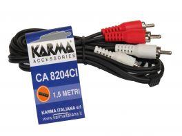 KARMA CA 8204CI Cavo Audio 1,5 mt  RCA/RCA