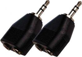 KARMA CA 8240 Coppia adattatori audio Jack 3,5 mm st/2presa 3,5mm stereo