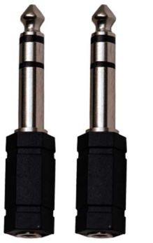 KARMA CA 8242 Coppia adattatori audio Jack 6,3mm st/presa 3,5mm stereo