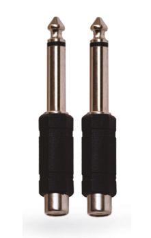 KARMA CA 8245 Coppia adattatori audio Jack 6,3mm mono/ RCA femmina