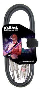 KARMA CA 8271M Cavo audio 1,5 mt  2 RCA - 2 Jack 6,3