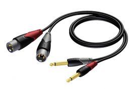PROCAB CLA 708-3 Cavo audio 3mt  2x XLR maschio/ 2 JACK 6,3mm mono maschio