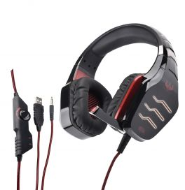 OVLENG GT 86R Cuffia gaming con led rosso