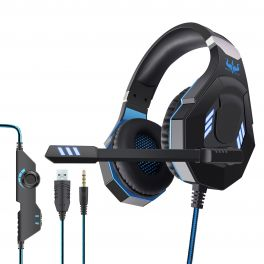 OVLENG GT 93BL Cuffia gaming USB con led blue