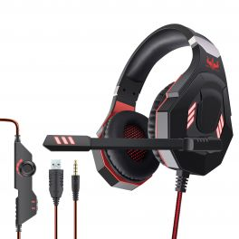OVLENG GT 93R Cuffia gaming USB con led rosso