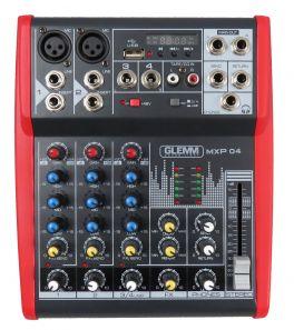 GLEMM MXP 04 Mixer microfonico 4 canali