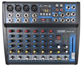 GLEMM MXP 08 Mixer microfonico 8 canali
