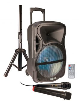KARMA PSB 12 Diffusore amplificato con radiomicrofono 600W PMPO