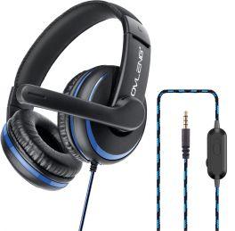OVLENG P 4BL Cuffia gaming con microfono blu