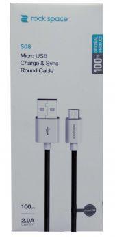 ROCK RCB 0688B Cavo Micro USB   100cm - Nero