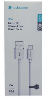 ROCK RCB 0688W Cavo Micro USB   100cm - Bianco
