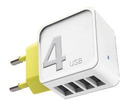 ROCK RCW 0236-W Caricatore USB 4 porte 1A - Bianco