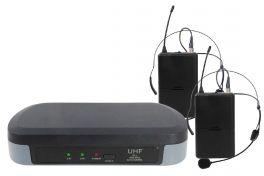KARMA SET 7302LAV Doppio Radiomicrofono ad archetto UHF