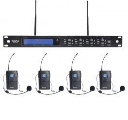 KARMA SET 8042LAV Radiomicrofono UHF 4 mic con archetto