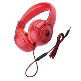 OVLENG X 1R Cuffia stereo con microfono rossa