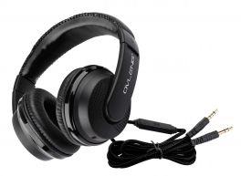 OVLENG X 2 Cuffia stereo con microfono nera