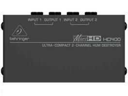 BEHRINGER HD400 MICRO-HUM DESTROYER SOPPRESSORE DI RUMORE A 2 CANALI