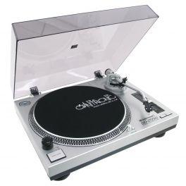 OMNITRONIC DD-2550 USB GIRADISCHI PER DJ TRAZIONE DIRETTA SILVER
